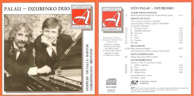CD DUO PALAU-DZUBENKO